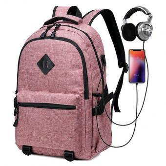 USB Charge Port Computer Bag Daily Backpack Headphone Jack Wholesale Men Women Laptop Backpack -ORSTAR