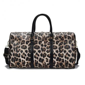 PU Leather Large Travel Bag Leopard Printing Duffle Bag Fashion Durable Business Travel Luggage Bag -ORSTAR